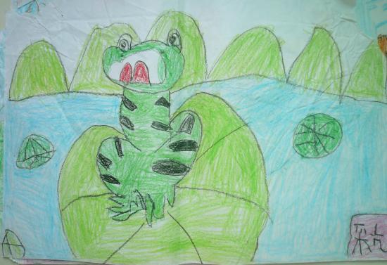 池塘中的青蛙