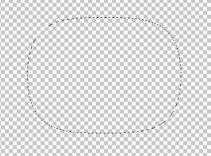 寻求帮助ps中新建一个图层用矩形选框后出现的是一个类似椭圆的矩形