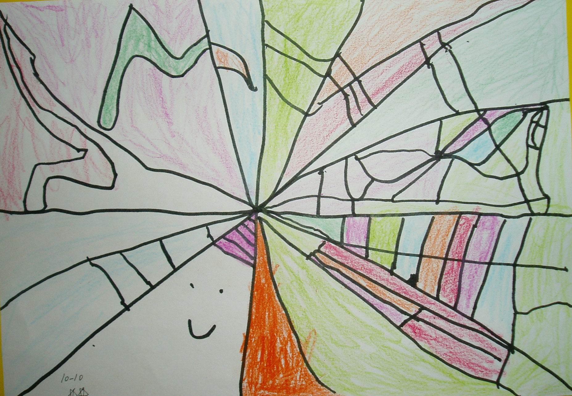 抽象画-我最近的作品 四岁十个月二十七天